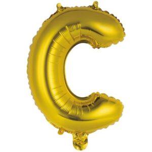 Gold, Arany C betű fólia lufi 45 cm