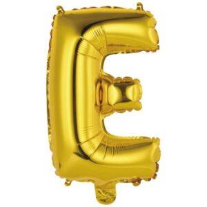 Gold, Arany E betű fólia lufi 43 cm