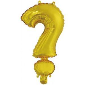 Gold, Arany ? betű fólia lufi, 46 cm
