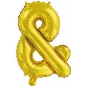 Gold, Arany & betű fólia lufi, 46 cm