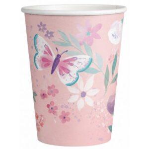 Flutter, Pillangó papír pohár 8 db-os 250 ml