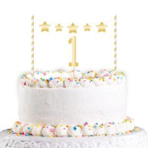 Gold Első születésnap torta dekoráció 19 cm