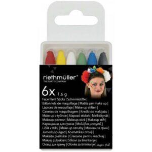 Halloween arcfestő készlet 6 db-os