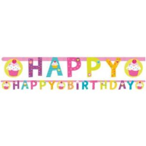 Cupcake, Muffin Happy Birthday felirat 180 cm