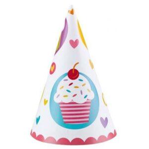 Cupcake, Muffin Parti kalap, csákó 6 db-os