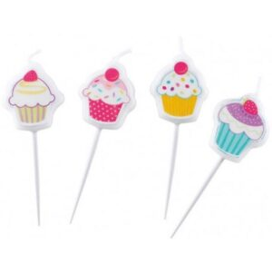 Cupcake, Muffin tortagyertya, 4 db-os gyertya szett