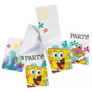 SpongeBob, SpongyaBob Party Meghívó 6 db-os