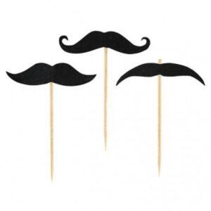 Mustache, Bajusz koktél díszítő pálca 20 db-os