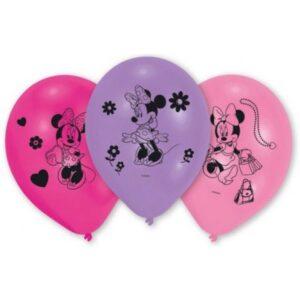 Disney Minnie léggömb, lufi 10 db-os