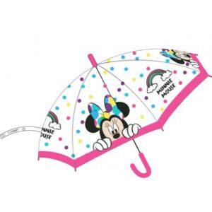 Disney Minnie gyerek átlátszó félautomata esernyő Ø68 cm