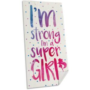 Super Girl fürdőlepedő, strand törölköző 75*150cm (Fast Dry)