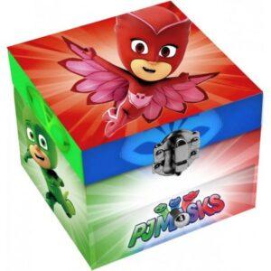 Ékszertartó doboz PJ Masks, Pizsihősök (1 fiókos)
