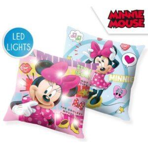 Disney Minnie LED világító párna, díszpárna 40*40 cm