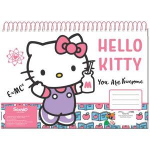 Hello Kitty A/4 spirál vázlatfüzet 30 lapos