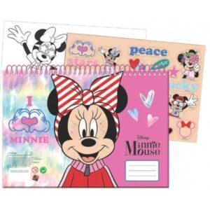 Disney Minnie A/4 spirál vázlatfüzet 40 lapos matricával