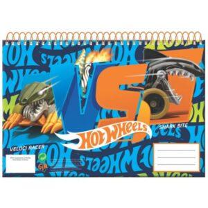 Hot Wheels A/4 spirál vázlatfüzet 30 lapos