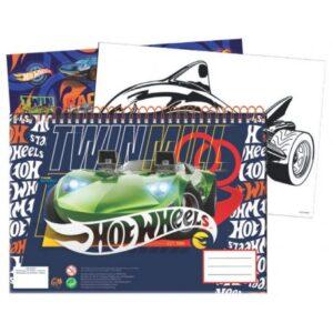 Hot Wheels A/4 spirál vázlatfüzet 40 lapos matricával