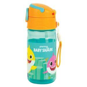 Baby Shark műanyag kulacs akasztóval 350 ml