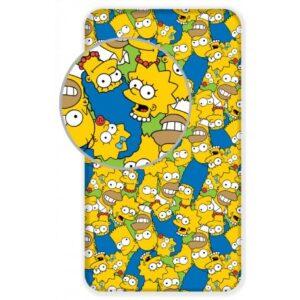 A Simpson család gumis lepedő 90*200 cm