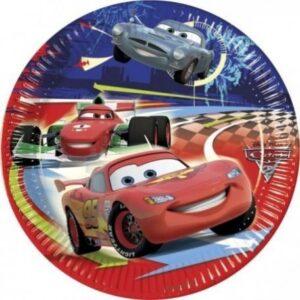 Disney Cars II, Verdák Papírtányér 10 db-os 23 cm