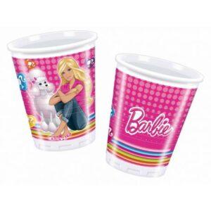 Barbie Cute Pets pohár, műanyag 10 db-os 200 ml