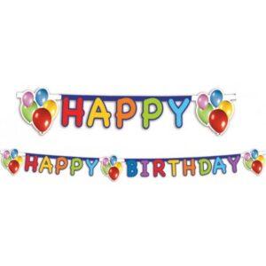 Balloons Fiesta, Lufis Happy Birthday felirat 170 cm