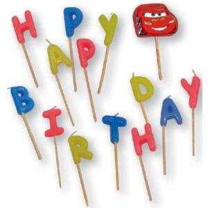 Disney Verdák Happy Birthday gyertya