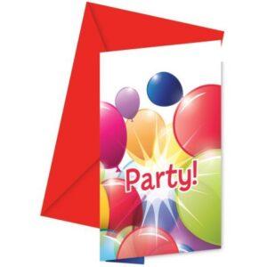 Flying Balloons, Lufis Party Meghívó 6 db-os