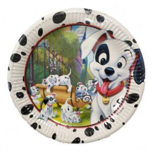 Disney 101 Dalmatians, Kiskutya Papírtányér 8 db-os 23 cm