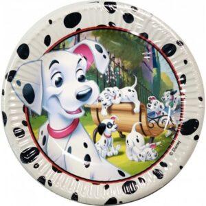 Disney 101 Damatians, Kiskutya Papírtányér 8 db-os 19,5 cm