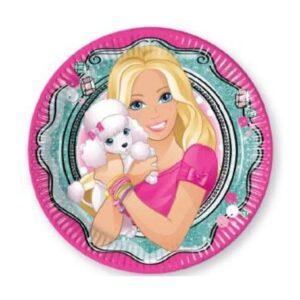 Barbie Elegant papírtányér 8 db-os 23 cm