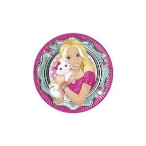 Barbie Elegant papírtányér 8 db-os 20 cm
