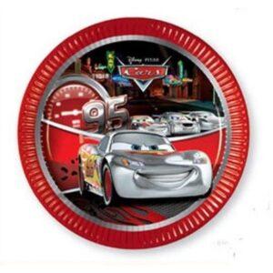 Disney Cars Silver Edition, Verdák Papírtányér 8 db-os 19,5 cm