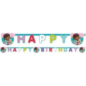 Disney Dr. Plüssi Happy Birthday felirat 220 cm