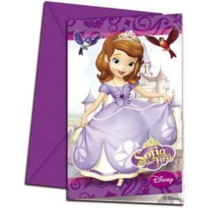 Disney Sofia The First Party, Szófia Party Meghívó 6 db-os