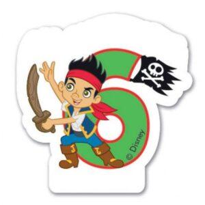 Disney Jake és Sohaország kalózai tortagyertya, számgyertya