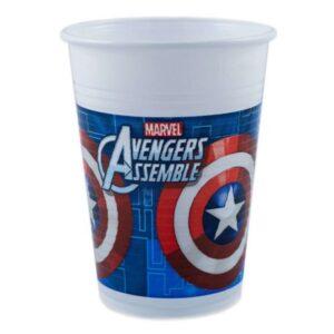Avengers Multi Heroes , Bosszúállók Műanyag pohár 8 db-os 200 ml
