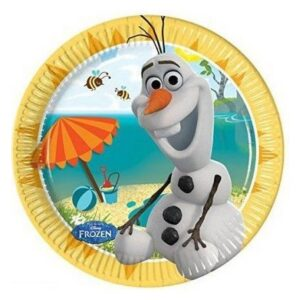 Disney Frozen Olaf Summer, Jégvarázs Papírtányér 8 db-os 19,5 cm