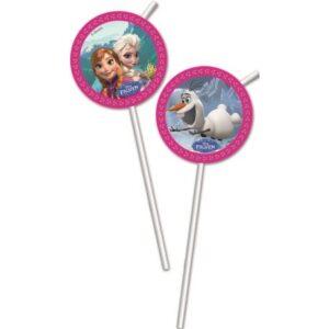 Disney Frozen Alpine, Jégvarázs szívószál, 6 db-os szett