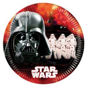 Star Wars Dark Side, Papírtányér 8 db-os 23 cm