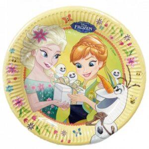 Disney Frozen Fever, Jégvarázs Papírtányér 8 db-os 23 cm