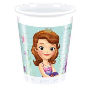 Disney Sofia Pearl of the Sea, Szófia Műanyag pohár 8 db-os 200 ml