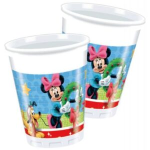 Disney Mickey Christmas Time Műanyag pohár 8 db-os 200 ml