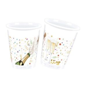 Sparkling Celebration, Csillogó ünneplés Műanyag pohár 8 db-os 200 ml