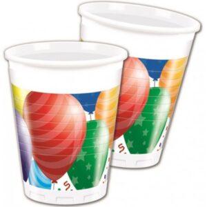 Balloons Celebration, Lufis Műanyag pohár 8 db-os 200 ml