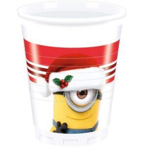 Minions, Minyonok XMAS Műanyag pohár 8 db-os 200 ml