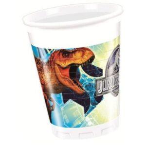 Jurassic World Műanyag pohár 8 db-os 200 ml