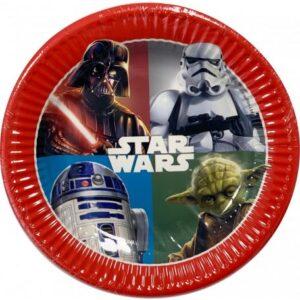 Star Wars Dark Force Papírtányér 8 db-os 19,5 cm