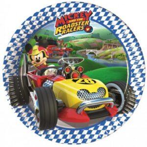 Disney Mickey Roadster Papírtányér 8 db-os 19,5 cm