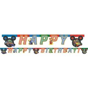Disney Mickey Happy Birthday felirat 200 cm
